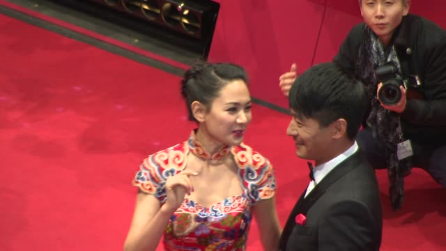 Cheng Li Sha Guo Xiaodong at Closing Ceremony Golden Bear Awards at Berlinale Palast on February 15 2014 in Berlin Germany