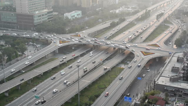 Chengdu traffic on RenNan interchange - China