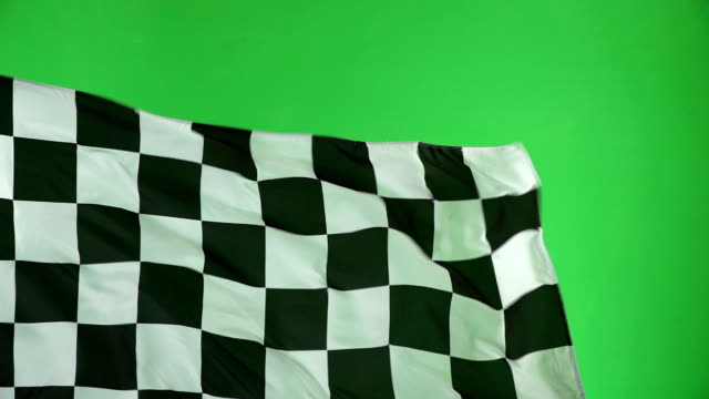 Chequered flag, Chroma key, Motor racing, Formula one Slow motion