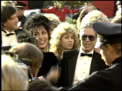 cher at the 1988 academy awards at the shrine auditorium in los angeles, california on april 1, 1988. - academy awards stock videos & royalty-free footage