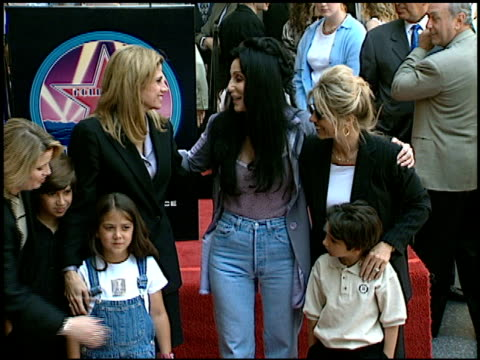Cher at the Dedication of Sonny and Cher's Walk of Fame Star at Hollywood Boulevard in Hollywood California on May 15 1998