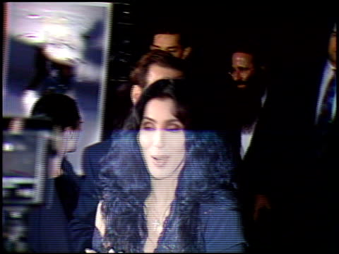 Cher at the 'Mermaids' Premiere at Motion Picture Academy in Los Angeles California on December 10 1990