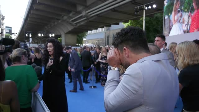 Cher attends the world premiere of Mamma Mia Here We Go Again held at the Eventim Hammersmith Apollo London