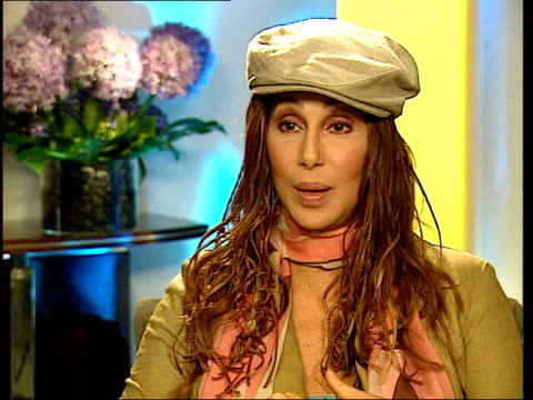 cher interview; itn england: london: int cher interview sot - now would be a good time to get a boyfriend - itv london tonight weekend stock videos & royalty-free footage