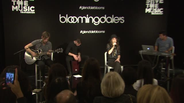 performance cher lloyd at bloomingdale's celebrates glendale opening to benefit vh1 save the music foundation 11/06/13 - vh1 stock videos & royalty-free footage