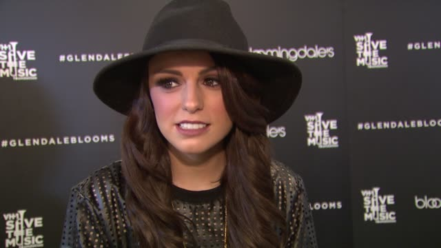 interview cher lloyd on being at bloomingdale's at bloomingdale's celebrates glendale opening to benefit vh1 save the music foundation 11/06/13 - vh1 bildbanksvideor och videomaterial från bakom kulisserna