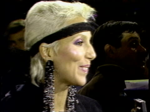 Cher walking the 1984 MTV Video Music Awards Red Carpet