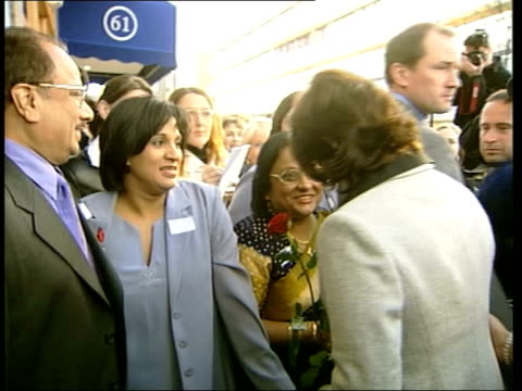 cherie blair opens alternative therapy centre itn london ext cherie blair wife of prime minister tony blair greeted on arrival to open alternative... - julia carling stock videos and b-roll footage