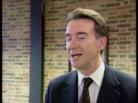 stockvideo's en b-roll-footage met pregnancy itn william hague mp interview sot i am sure they are delighted and we should all be int peter mandelson mp interview sot surprising but... - peter mandelson