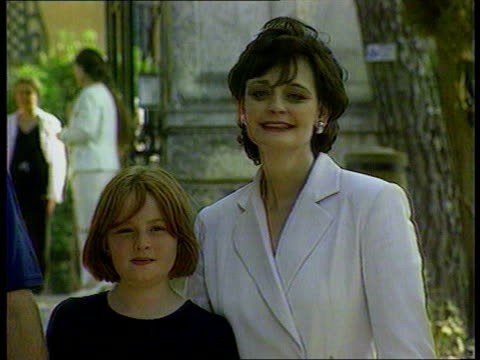 pregnancy lib italy tuscany tony and cherie blair walking along with children cherie blair with daughter kathryn tony blair with daughter and son as... - tuscany stock videos & royalty-free footage