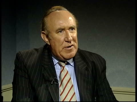 """""""cheriegate"""" - further allegations; london: int andrew neil interviewed sot - why would pm's wife agree to 3 more pages being faxed through if she'd... - andrew neil stock videos & royalty-free footage"""