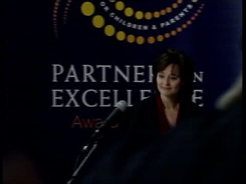 cheriegate tony blair defends wife westminster cherie blair along to podium pan people in audience applauding cherie blair speech sot i am not... - superwoman stock videos and b-roll footage