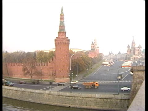 Chernenko death effects ITN LIB UNDONE Moscow LV The Kremlin PULL OUT and PAN street LR St Basil's in the far distance GV St Basil's PULL OUT and PAN...