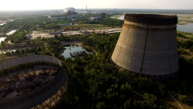 chernobyl: aerial imagery - news event stock videos & royalty-free footage