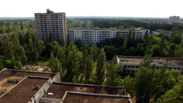 chernobyl: aerial imagery - nuclear reactor stock videos & royalty-free footage