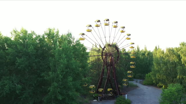 chernobyl ferris wheel - nuclear power station stock videos & royalty-free footage