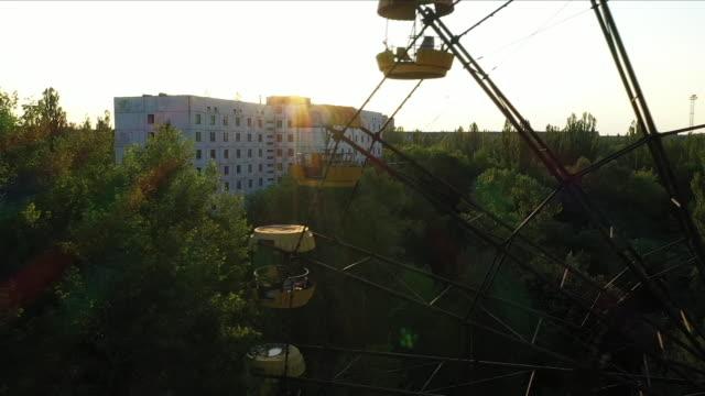 chernobyl ferris wheel - in rovina video stock e b–roll