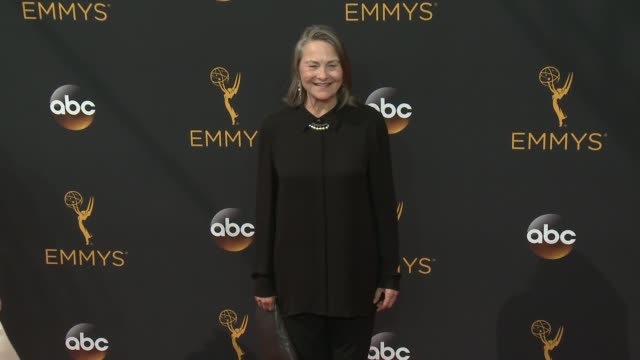 cherry jones at 68th annual primetime emmy awards - arrivals in los angeles, ca 9/18/16 - annual primetime emmy awards stock videos & royalty-free footage