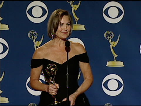 cherry jones at the 61st annual primetime emmy awards - press room at los angeles ca. - annual primetime emmy awards stock-videos und b-roll-filmmaterial