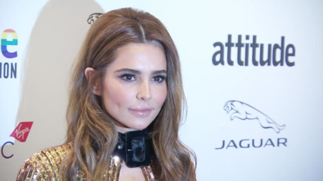cheryl at virgin atlantic attitude awards powered by jaguar 2019 at the roundhouse camden at the roundhouse on october 9, 2019 in london, england. - attitude stock videos & royalty-free footage