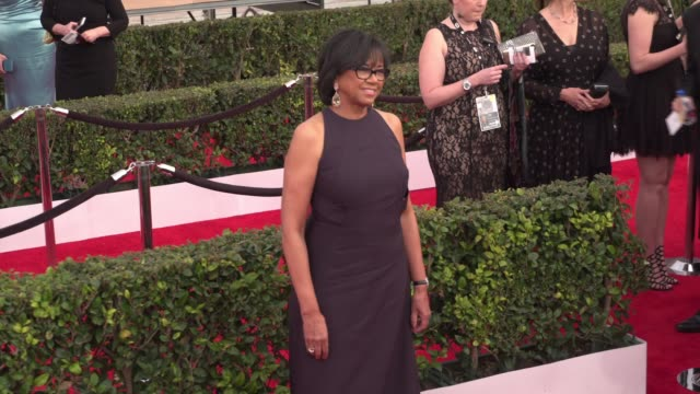 cheryl boone isaacs at the 22nd annual screen actors guild awards - arrivals at the shrine auditorium on january 30, 2016 in los angeles, california.... - shrine auditorium stock videos & royalty-free footage