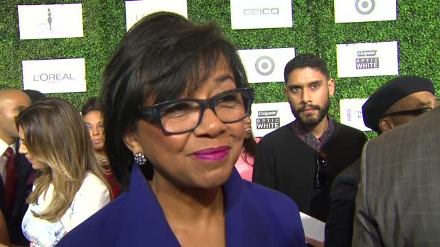 interview cheryl boone isaacs on being honored being at the event the importance of the event if more movies about the black experience will be made... - beverly hills hotel stock videos and b-roll footage
