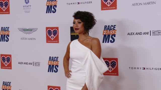 cheryl burke at the 22nd annual race to erase ms in los angeles ca - race to erase ms stock videos and b-roll footage