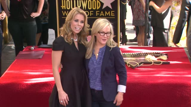 cheryl hines and rachael harris at cheryl hines honored with star on the hollywood walk of fame on january 29 2014 in hollywood california - rachael harris stock videos and b-roll footage
