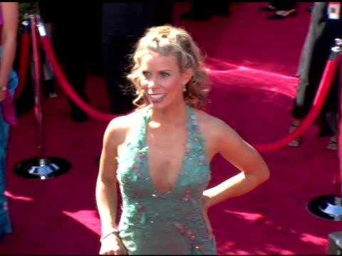 vídeos y material grabado en eventos de stock de cheryl hines at the 2006 primetime emmy awards arrivals at the shrine auditorium in los angeles, california on september 19, 2004. - premio emmy anual primetime