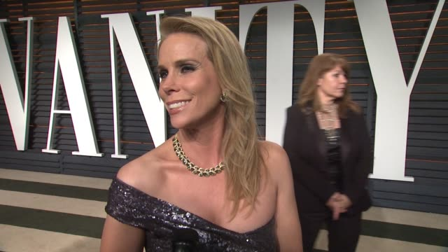 interview cheryl hines at the 2015 vanity fair oscar party hosted by graydon carter at wallis annenberg center for the performing arts on february 22... - wallis annenberg center for the performing arts stock videos and b-roll footage