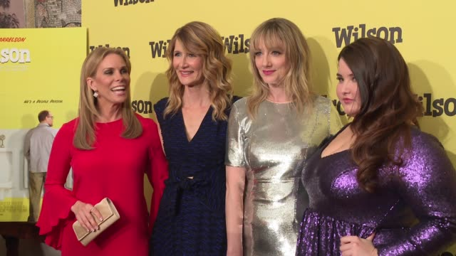 vídeos de stock, filmes e b-roll de cheryl hines laura dern judy greer isabela amara at wilson special screening presented by fox searchlight at the whitby hotel on march 19 2017 in new... - judy greer