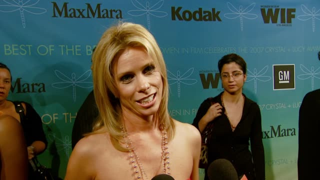 cheryl hines on the event her film 'waitress' and the bittersweet experience of working on the film at the women in film presents the 2007 crystal... - waitress stock videos & royalty-free footage