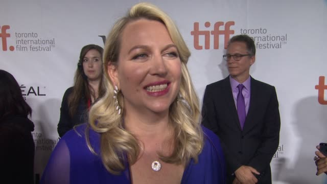 "vídeos de stock, filmes e b-roll de cheryl strayed on how she feels having her story brought to the big screen and what she hopes the audience will take away from the film - ""wild""... - festival de cinema de toronto"