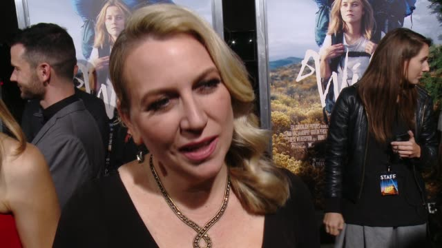 interview cheryl strayed on the film's theatrical release bringing her book to the big screen and what she hopes the audience takes away from the... - 映画芸術科学協会点の映像素材/bロール
