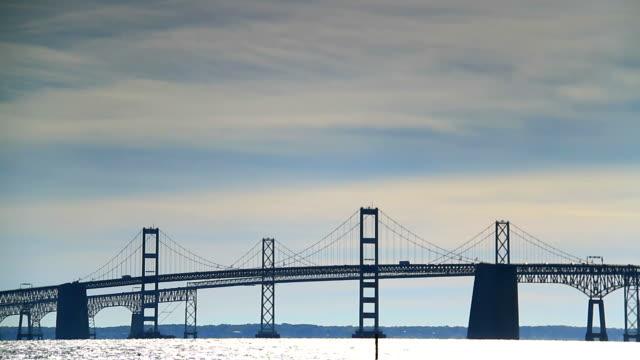 chesapeake bay bridge - maryland delstat bildbanksvideor och videomaterial från bakom kulisserna