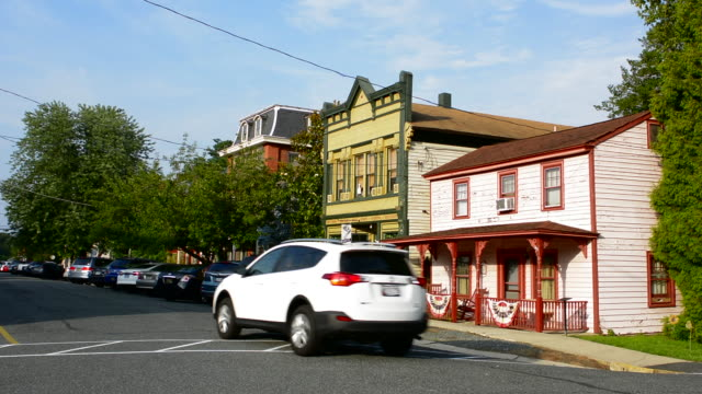 Chesapeake City Maryland Bohemia Avenue old town hall and buildings on the main street in the village