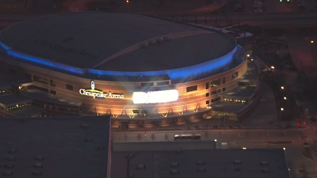 vidéos et rushes de kfor chesapeake energy arena in oklahoma city - oklahoma