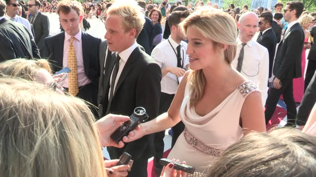 cheska hull at arqiva british academy television awards at the national theatre on may 27, 2012 in london, england - 英国アカデミー賞テレビ部門点の映像素材/bロール