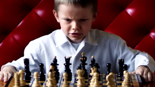chess boy anger - chess stock videos & royalty-free footage