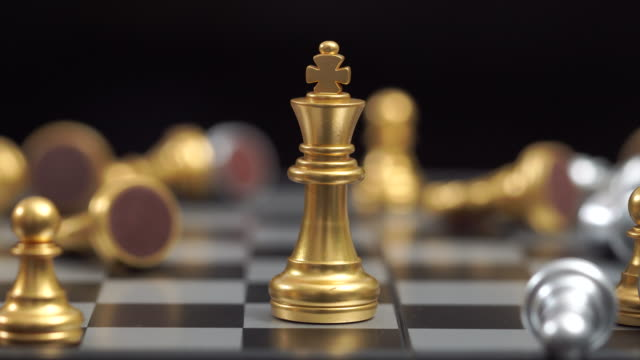 chess business concept on chess board game - part of stock videos & royalty-free footage