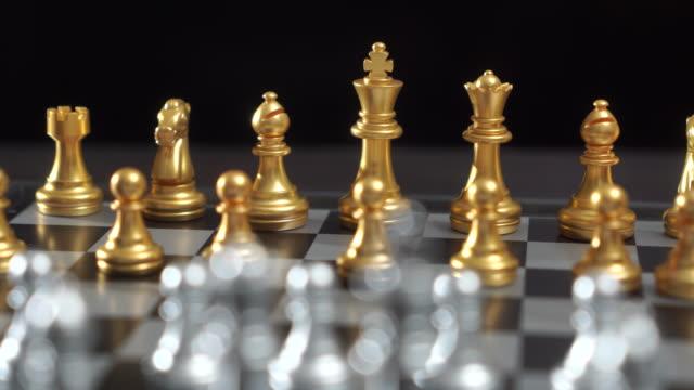 チェスボードゲームのチェスビジネスコンセプト - チェス点の映像素材/bロール
