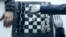 Chess game with a robot