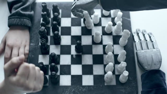 chess game with a robot - chess stock videos & royalty-free footage