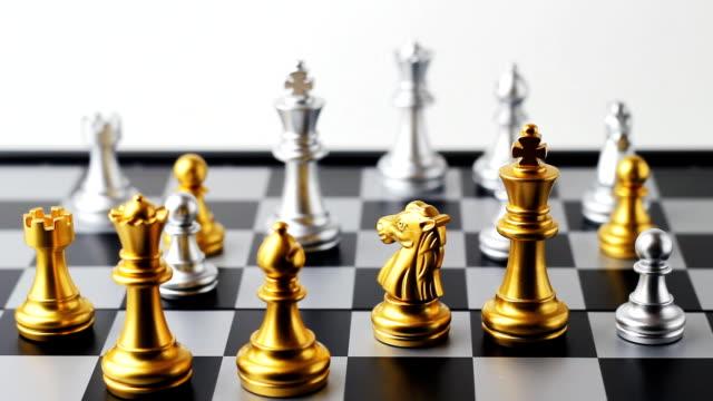 verschieben schach - begriffssymbol stock-videos und b-roll-filmmaterial