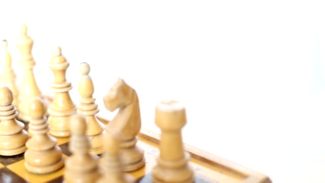 chessboard setup pan - chess piece stock videos & royalty-free footage