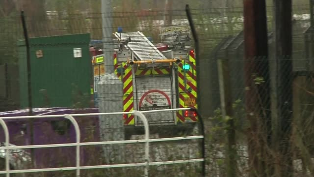 Chester Zoo visitors evacuated after fire ENGLAND Cheshire Chester EXT Fire engine along at Chester Zoo Fire damage to Monsoon Forest exhibit
