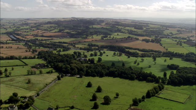 chesters roman fort  - aerial view - england, northumberland, wall, united kingdom - fortress stock videos and b-roll footage