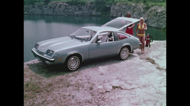 1976 chevrolet monza montage - chevrolet stock videos & royalty-free footage