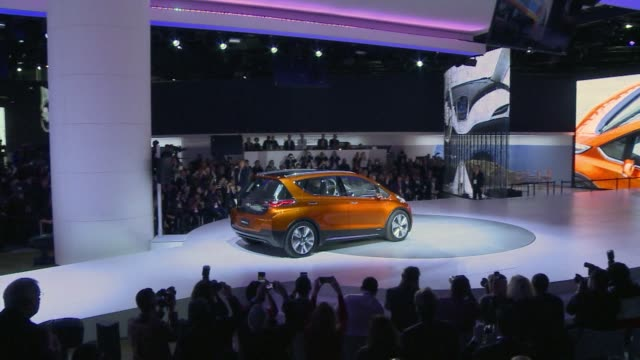 chevrolet on monday unveiled a new version of its volt plug in hybrid car which can travel further than the previous model using only its battery... - chevrolet stock videos & royalty-free footage