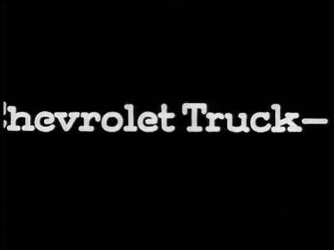 """vidéos et rushes de b/w 1928 slate: """"chevrolet truck-the world's lowest ton-mile cost"""" / industrial - chevrolet"""